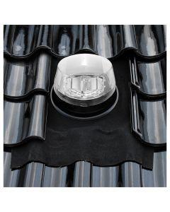 Solatube Ø 25 cm set vierkant eco dakdoorvoer hellend dak ubiflex